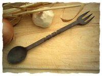 Ein Göffel oder eine Label aus Eisen